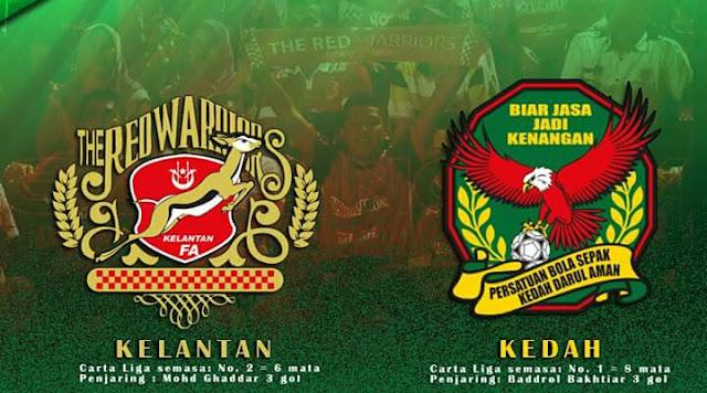 Live Streaming Keputusan Kelantan vs Kedah 18 Feb 2017