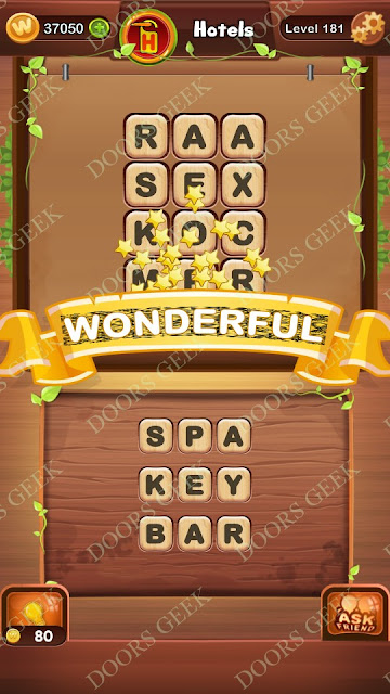 Word Bright Level 181 Answers, Cheats, Solutions, Walkthrough for android, iphone, ipad and ipod