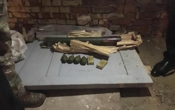 СБУ вилучила в Сумах гранатомет і гранати