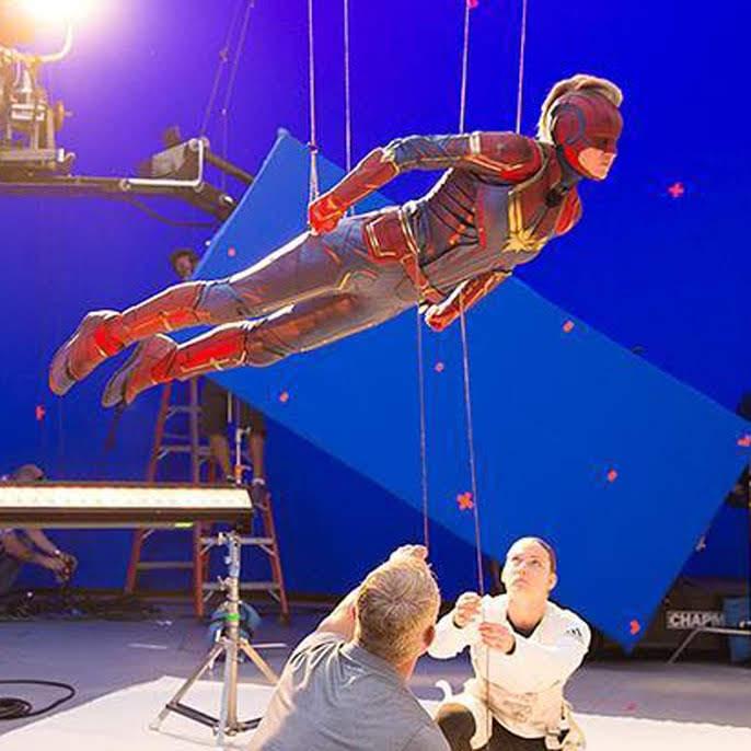 Captain Marvel BTS Photo : マーベルの戦うヒロイン映画の大ヒット作「キャプテン・マーベル」撮影時の貴重なメイキング・フォト ! !