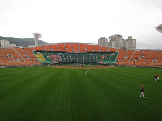 Center to home, Sajik Baseball Stadium