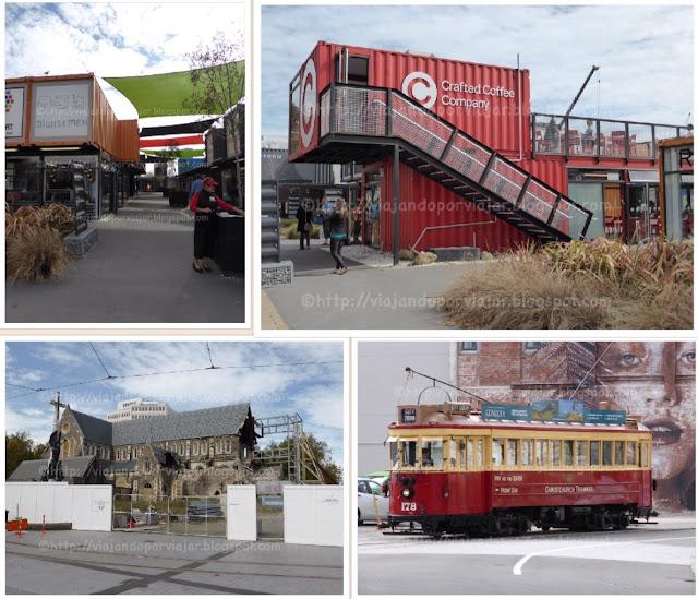 Christchurch: centro comercial, catedral y tranvía