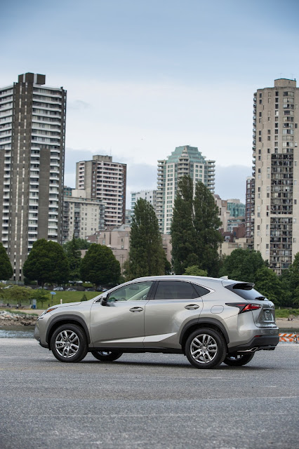 Rear 7/8 view of 2016 Lexus NX 200t F SPORT