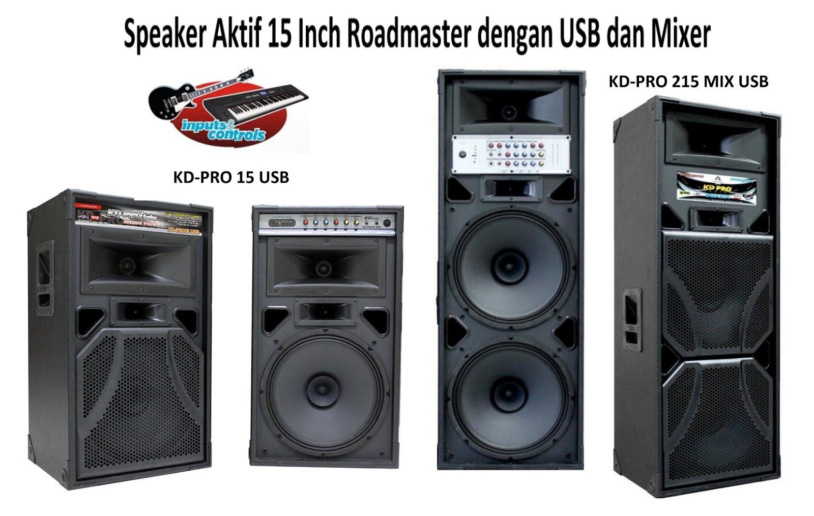 Speaker Aktif 15 Inch Roadmaster Dengan USB Dan Mixer