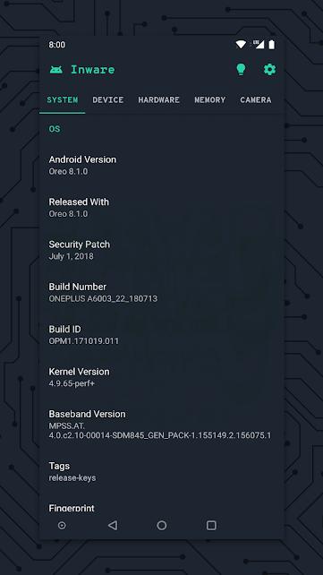 اسهل طريقة لمعرفة مواصفات هاتفك الأندرويد بضغطة واحدة Inware