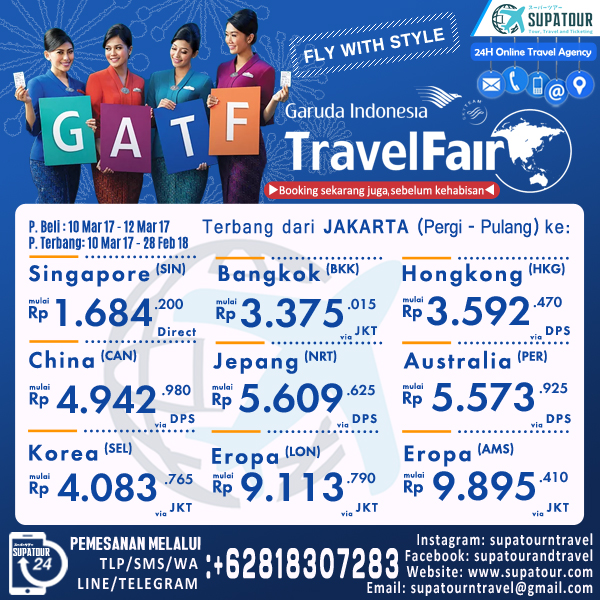 GARUDA TRAVEL FAIR 2017 O: CGK