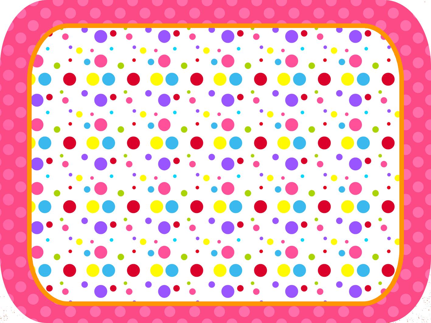 Puntos De Colores Para Niña: Etiquetas Para Candy Bar
