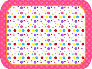 Etiquetas de Puntos de Colores para Niña para imprimir gratis