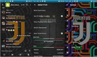 BBM Mod Juventus TIME BG Color V3.2.5.12 Apk Terbaru