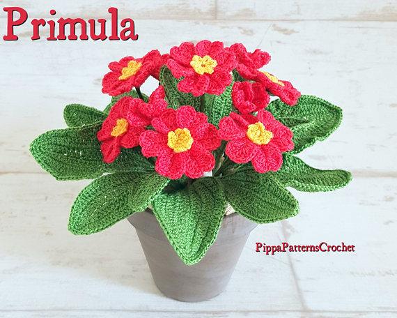 primula flower crochet pattern