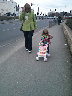 walking with the pushchair