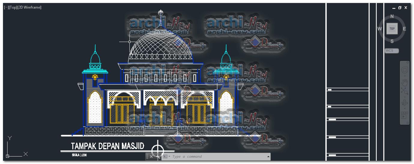 Kumpulan Gambar Gambar Masjid Cad Terlihat Cantik