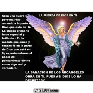 Imágenes de Ángeles con frases arcangeles Dios oracion