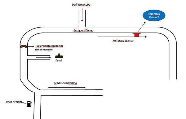 peta lokasi homestay krisna dieng
