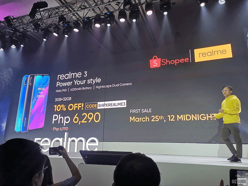 Realme 3 on Shopee