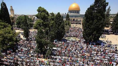 250.000 Jamaah Hadiri Shalat Jumat ke-3 Ramadhan di Masjid Al Aqsha