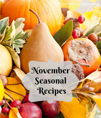 November Seasonal Recipes