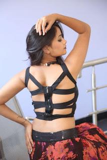 Shriya Vyas in a Tight Backless Sleeveless Crop top and Skirt 45.JPG