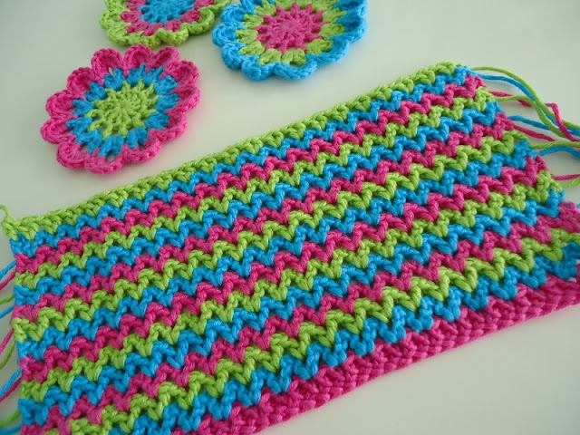Dinki Dots - V-Stitch Crochet