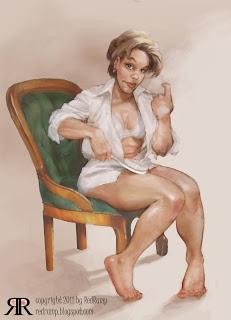 spanking art drawings