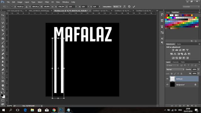Cara Membuat Tulisan CRIS7ANO Ala Juventus Di Photoshop - 7