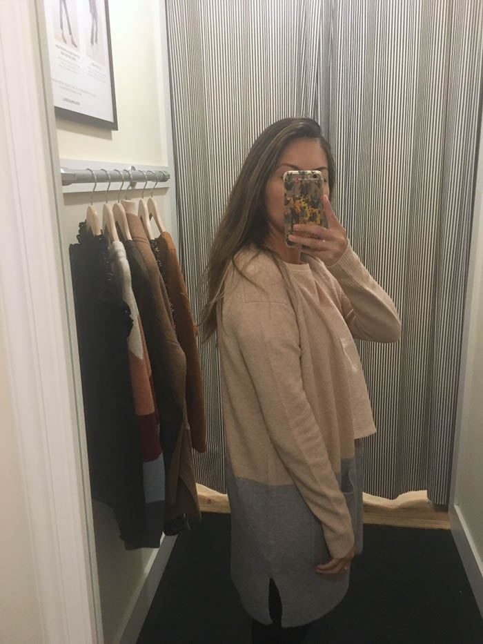 cozy tan grey cardigan
