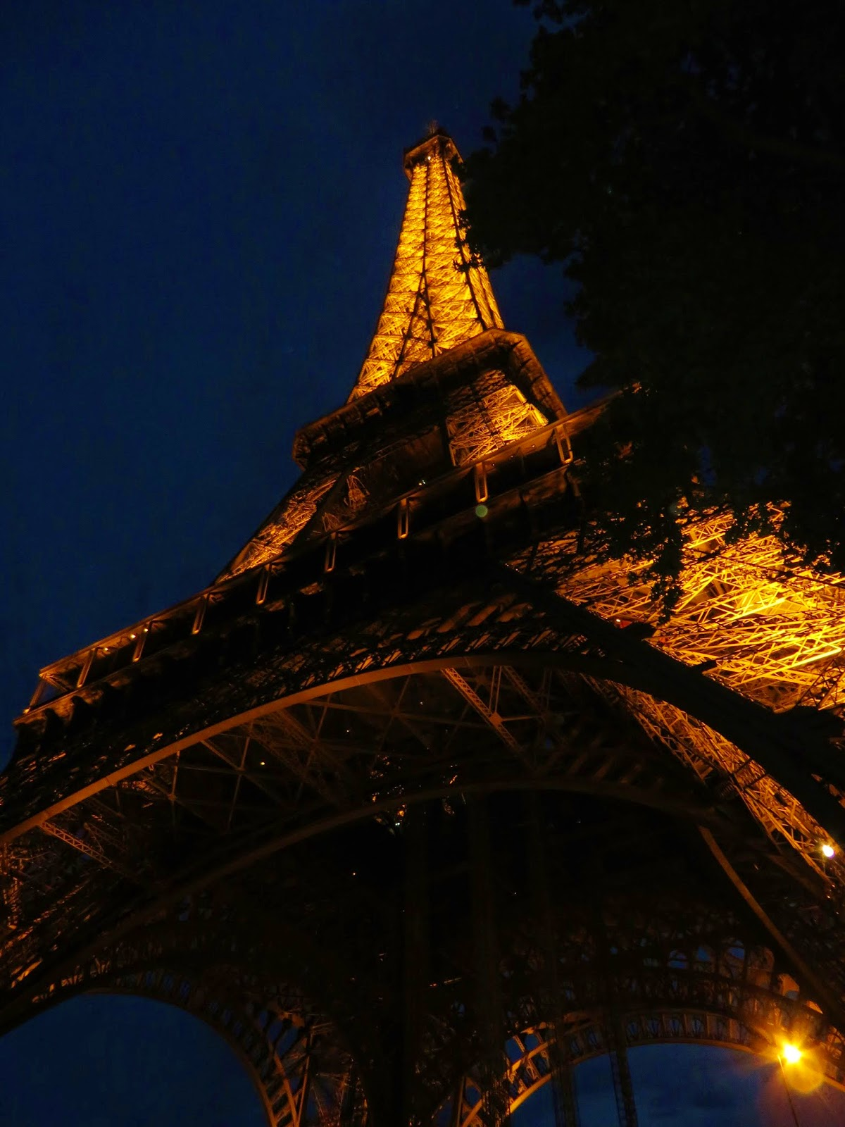 Eiffel tower light night glow Paris