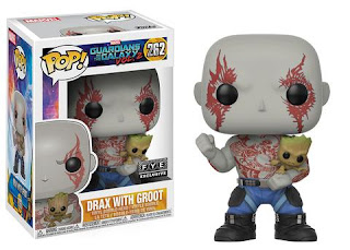 Pop! Marvel: Drax Holding Groot.