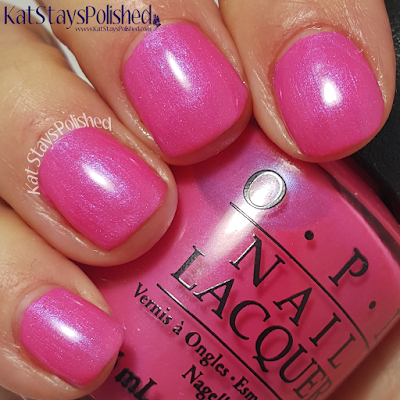 OPI Neons - Hotter Than You Pink | Kat Stays Polished