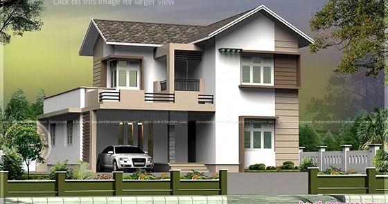 Square Feet Small Villa Cent Plot Kerala Home