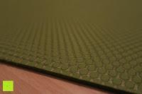 Noppen Struktur: Yogamatte aus natürlichen Gummi (Kautschuk) - »Rubin« 183x61x0,4cm - sehr rutschfeste Matte für Yoga : ideal für Yogalehrer & Yogastudios (Studio-Qualität). Erhältich in 6 Trendfarben : pink hellblau grün lila navyblau & schwarz. Exzellent geeignet für Yogaübungen (Asanas), Pilates & Gymnastik - die perfekte Fitnessmatte / Sportmatte dank innovativer Oberflächenstruktur - ökologisch korrekt hergestellt & REACH geprüft (keine Schadstoffe)