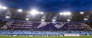 Fans wave Lazio off