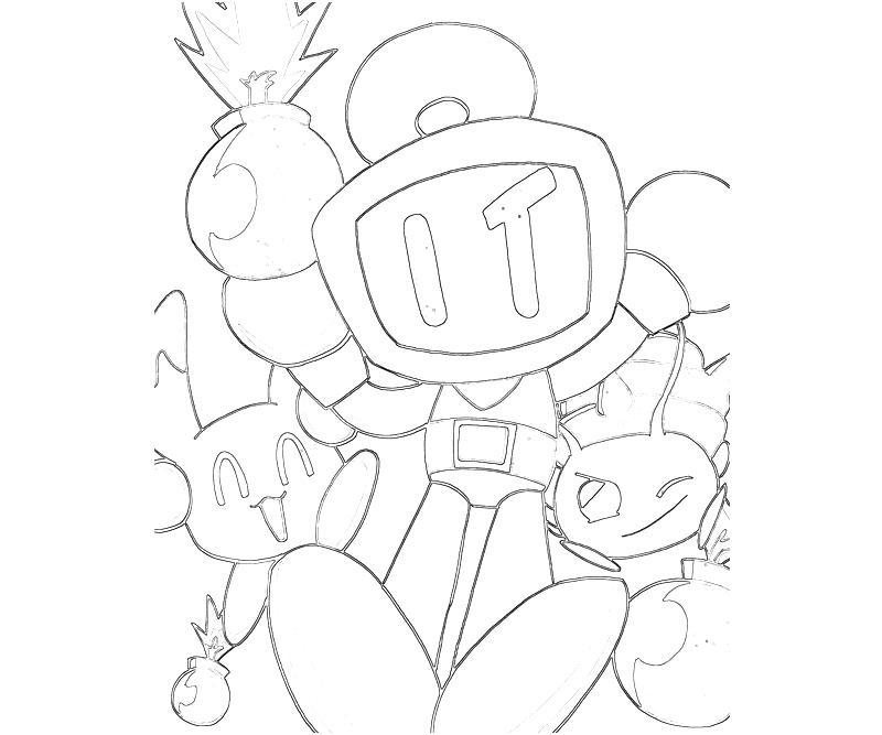 Bomberman coloring pages ~ Bomberman Bomberman Wow | Mario