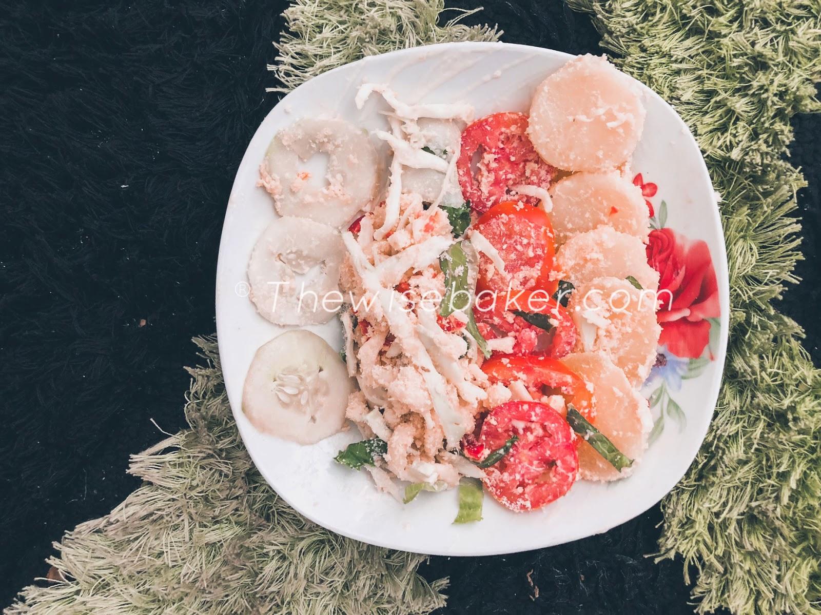 Garri salad or sauce