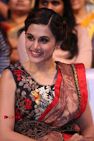 Tapsee Pannu Latest Stills in Red Silk Saree at Anando hma Pre Release Event .COM 0084.JPG