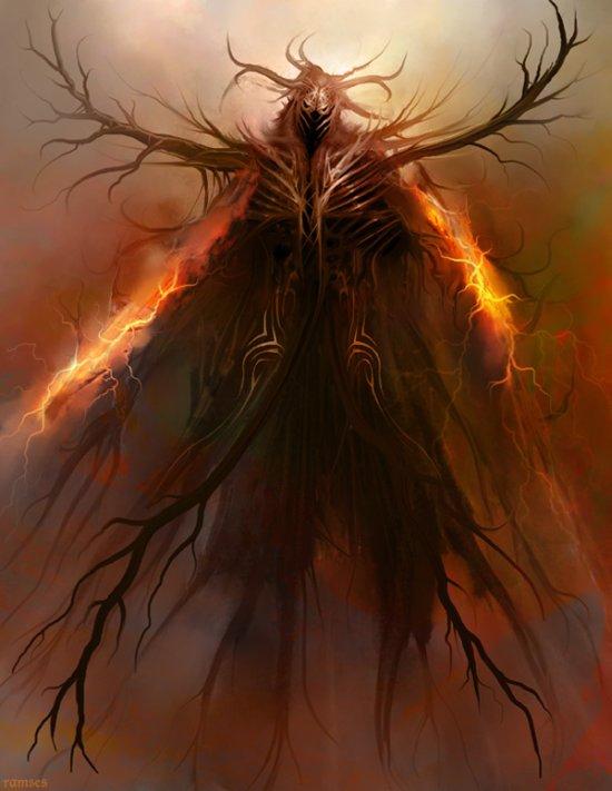 Ramsés Meléndez deviantart ilustrações fantasia sombria terror inferno demônios anjos caídos fantasmas