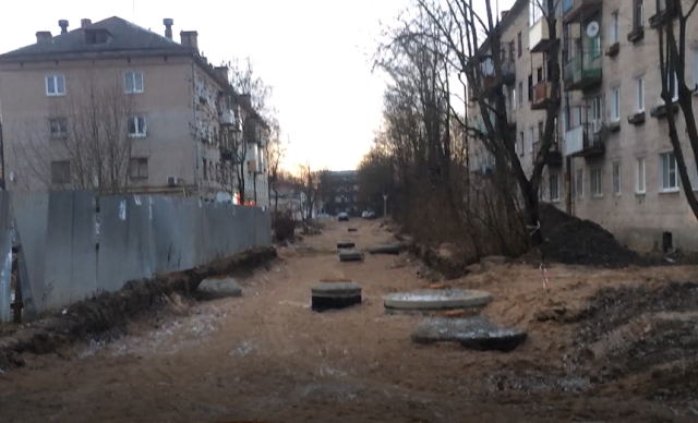 Раскопка и строительство новой дороги