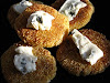 Corn Cakes with Blue Cheese and Honey