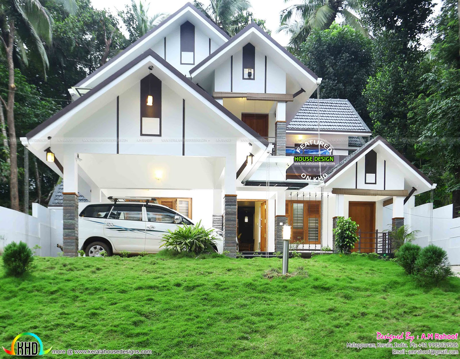 Finished house project in kerala home design simple for Simple houses in kerala