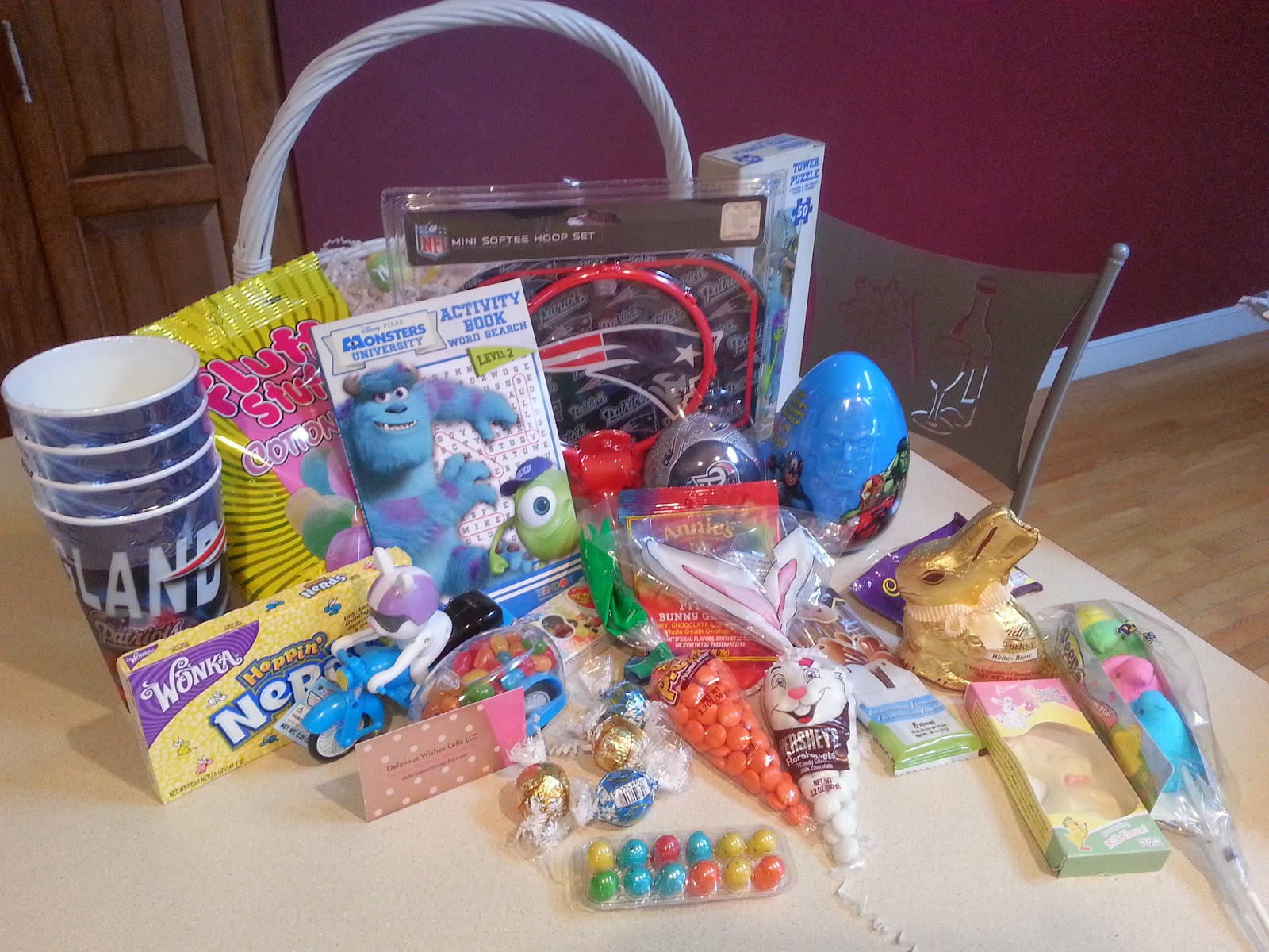 Delicious Wishes Gifts: Custom Easter Basket Contents