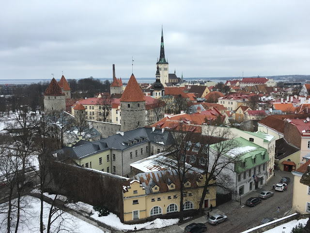 The views over Tallinn Old Town from Toompea Hill