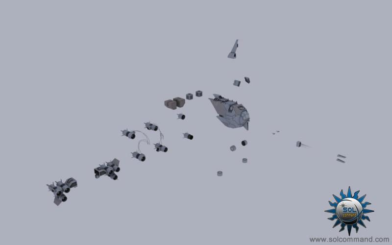 Vandal modular space ship 3d model free download solcommand parts original concept
