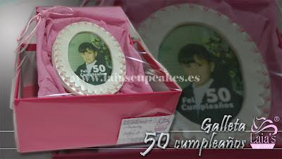 Galleta personalizada de impresión comestible y fondant. Laia's Cupcakes Puerto Sagunto