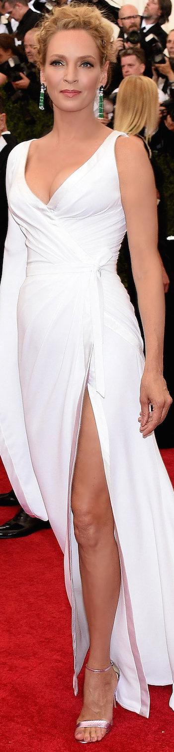 Uma Thurman in Atelier Versace 2015 MET GALA