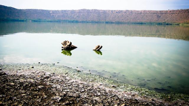 lonar-lake-sarover-crater-lake maharashtra, india, lonar, lonar crater lake, lake, crater, buldhana, lonar lake