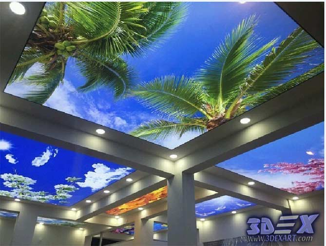 3D stretch ceiling designs DIY and Modern ceiling Art