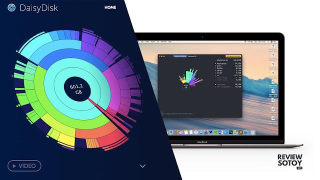Review aplikasi daisydisk untuk membersihkan memori mac