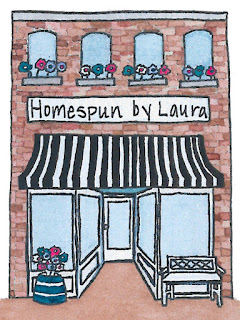 homespun by laura, etsy store, homespun by laura etsy, watercolor storefront, watercolor