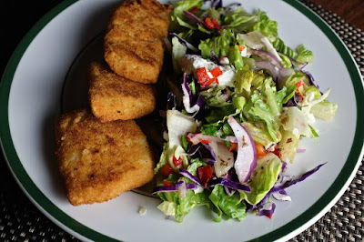Cod and Greek Salad: photo by Cliff Hutson