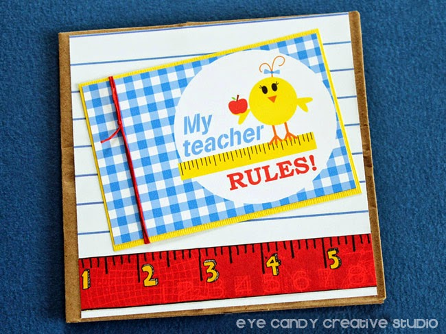 teacher rules, lil chicks, ruler, school days, scrapbook paper, teacher gift idea